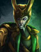 Stixx the Cat - Cosplaying as Loki by sugarpoultry
