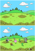 Adventure Time RPG: Grasslands battle arena by tebited15