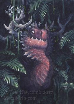 Aceo Red Buck by thedancingemu