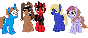 Youtuber Ponies by Apocalyptic-Nuisance