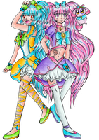Cure Diamond and Cure Spinel by DoubleMichi