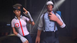 SFM - Medic And His Assistance Femscout by wnses286