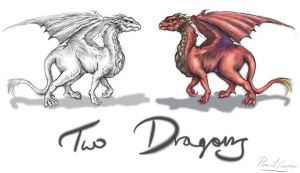 Two Dragons again by PencilLover