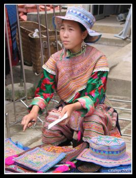 Flower Hmong girl in Bac Ha 2 by Olithys
