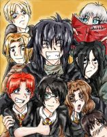 Harry Potter Group Photo by Pusskintootsiefoot