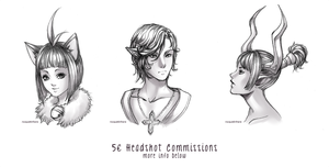 [CLOSED] Headshot commissions by noquietinhere