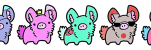 Bunnypig Adoptables! 3 points each! Open~ by LegolasCookie