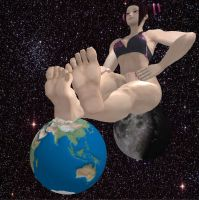 Juri - Earth Makes a Good Footrest by XxSumRaNdOmGuYxX