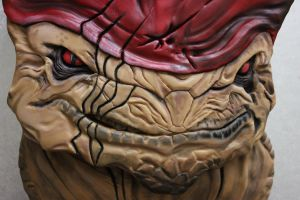 Wrex Cake: Face detail by BeanieBat