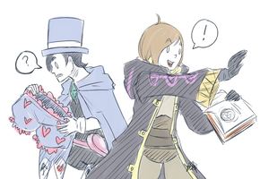 Morgan + Trucy by Pidoodle