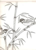 chickadee in bamboo Part Two by KellyGirl1