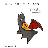charizard love by Vickiepwnyou