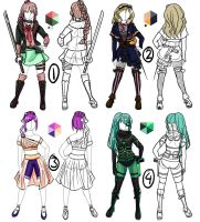 Adoptable Outfits 2 OPEN by EllieJoy