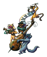 Scat Cat's Band by Ai-Don