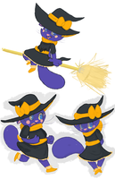 Halloween witch kitty by the-Assyrian