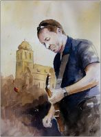 A guitar player by sanderus