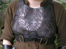 Rogue armour chest detail by Bear-Crafter