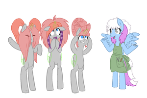 Collab- It's the new style! You'll get used to it. by Reporter-Derpy