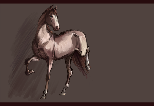 [Horses].:Sketch Com: Kodiak Rose:. by The-Day-of-Shadow