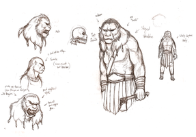 Some kind of Lion-Orc Concept by Pandadrake
