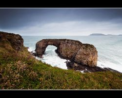 The Great Sea Arch at Pollaid, Fanad, Ireland. by pmd1138