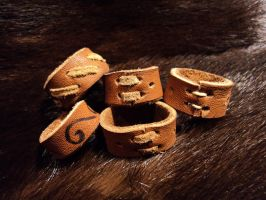 Leather rings, take 2 by LeTrefle