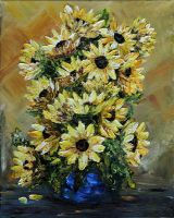 SUNFLOWERS FOR YOU by ARTBYTERESA
