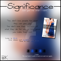 Review board for Significance by Shelly Crane by ClaireyLovell