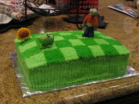 Plants Vz Zombies Cake by RozMartinez