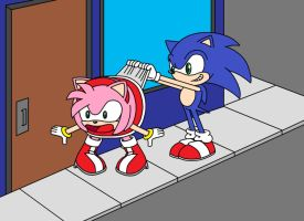 Sonic Wedgies Amy by Animekid0839