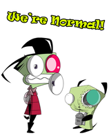 Zim and Gir Normal? by Natty354