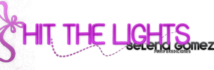 Hit The Lights  Texto Png by MariFerEdiciones