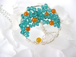 orange tree necklace by faranway
