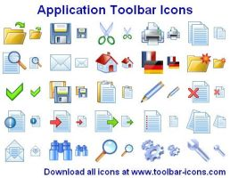 Application Toolbar Icons by Ikonod