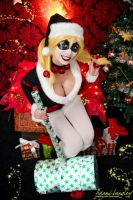 Harley Quinn cosplay - Merry Christmas by adami-langley