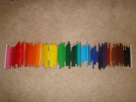 The Colored Pencil Spectrum by MidnightAvatArtist8