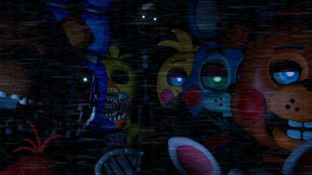 FNAF 2 poster -Withered and Toys- *UPDATE* by Zero2zero2