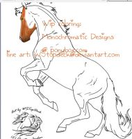 WIP Firestar the horse 1 by MissElectronic