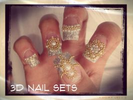 Client 3D Nail Designs by jadelushdesigns
