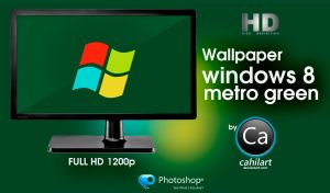 Windows 8 Metro Green by CaHilART