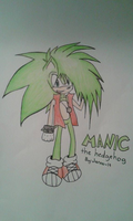 Manic the hedgehog by MasterPowerXOXO