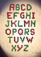 Font made of beads by joan789