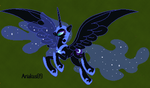 Minecraft Nightmare Moon + Timelapse by Ariakus89