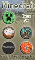 Button Set: Minecraft by Shalie