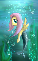 PonyFish Fluttershy by SRBei17