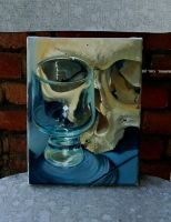 glass skull done by tattooneos