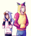 Dream Eater Hoodies by TrioneCommissions