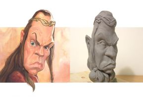 Elrond Maquette by AndrewSan15