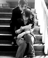 Love in a stairwell by Emagyne