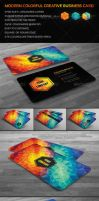 Creative Modern Polygon Business Card by mrsbadbugs